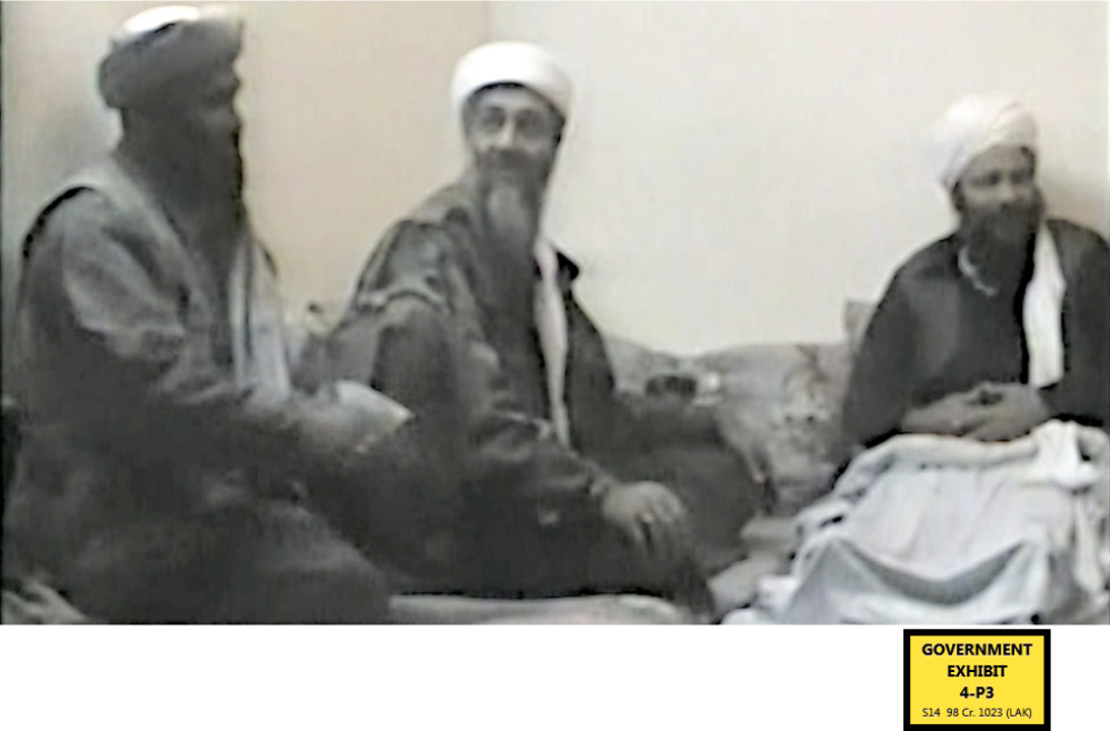 Sulaiman abu Ghaith, Osama bin Laden's son-in-law, shown in a video from Al-Jazeera, is on trial in New York on charges that he conspired to kill Americans in his role as al-Qaida's mouthpiece after the Sept. 11 terrorist attacks. He is the highest-ranking al-Qaida figure to stand trial on U.S. soil since the attacks.