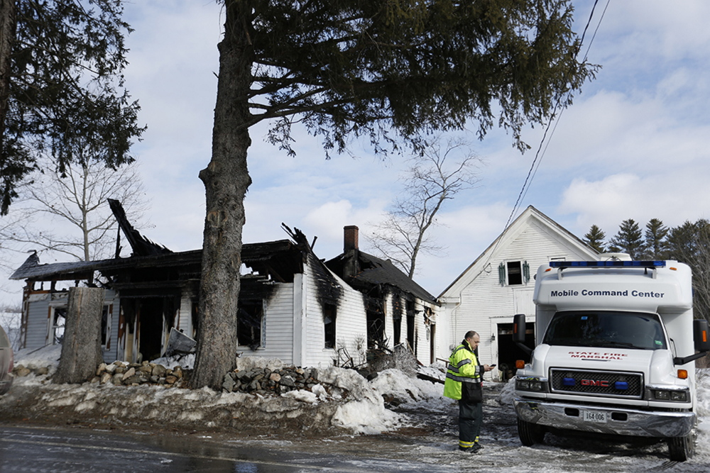 Firefighters from several communities helped extinguish a house fire in Limington on Monday in which Ingeborg Young died.