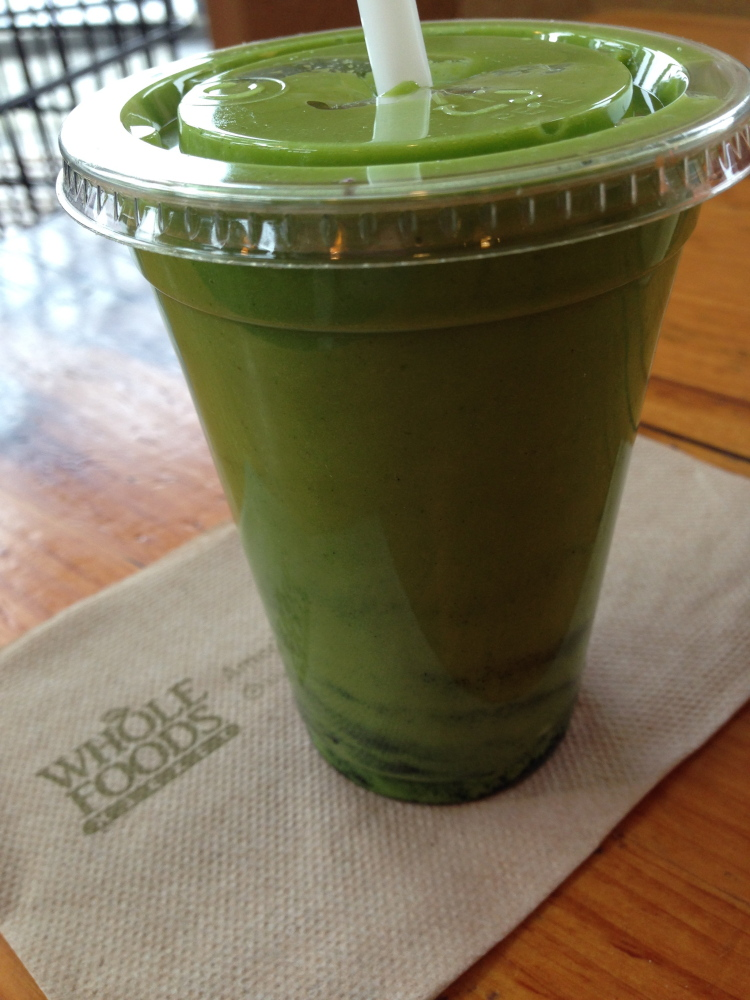 Green smoothie from Whole Foods