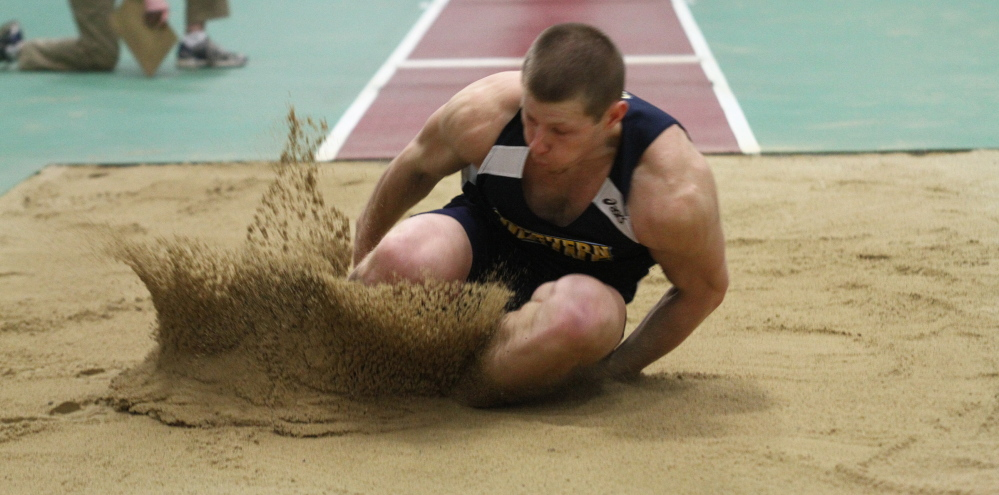 Jamie Ruginski of the University of Southern Maine came up 2 inches short in his bid to become an All-American in the triple jump last year. This year he wants it. Badly.