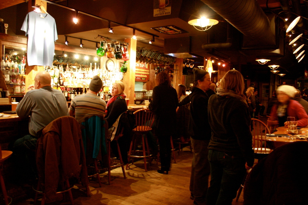 There's a little more standing space at the bar on weeknights. Weekends are a different scene.