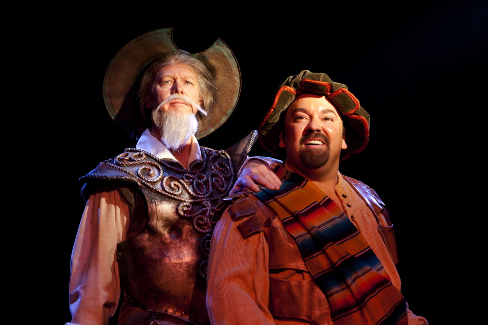 """Jack E. Curenton stars as Don Quixote and Rick Grossman is Sancho in the Broadway National Tour of """"Man of La Mancha,"""" presented by Portland Ovations and coming to Merrill Auditorium in Portland for two performances on Saturday."""