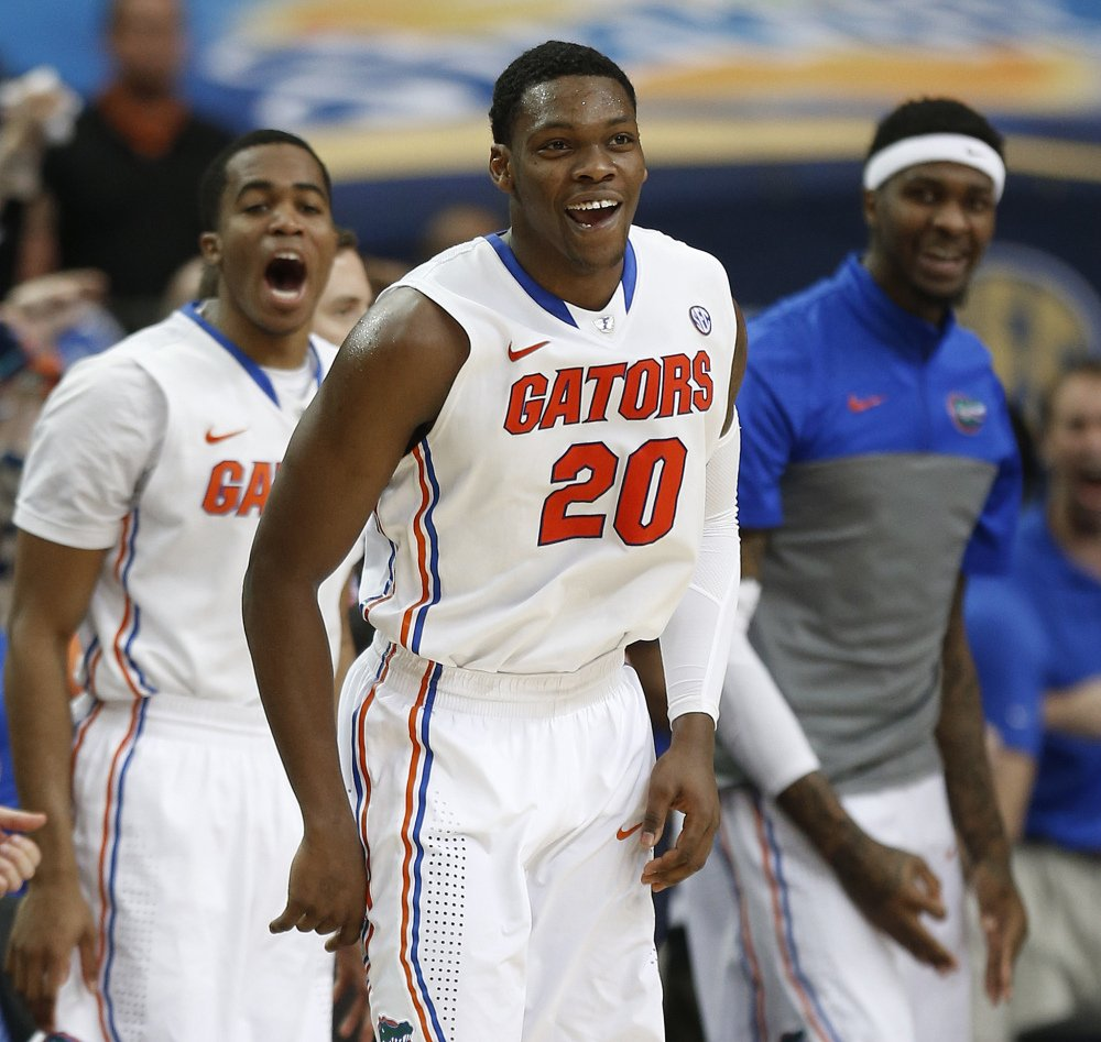 Florida guard Michael Frazier II reacts to play against Tennessee in the semifinal round of the Southeastern Conference men's tournament on Saturday.
