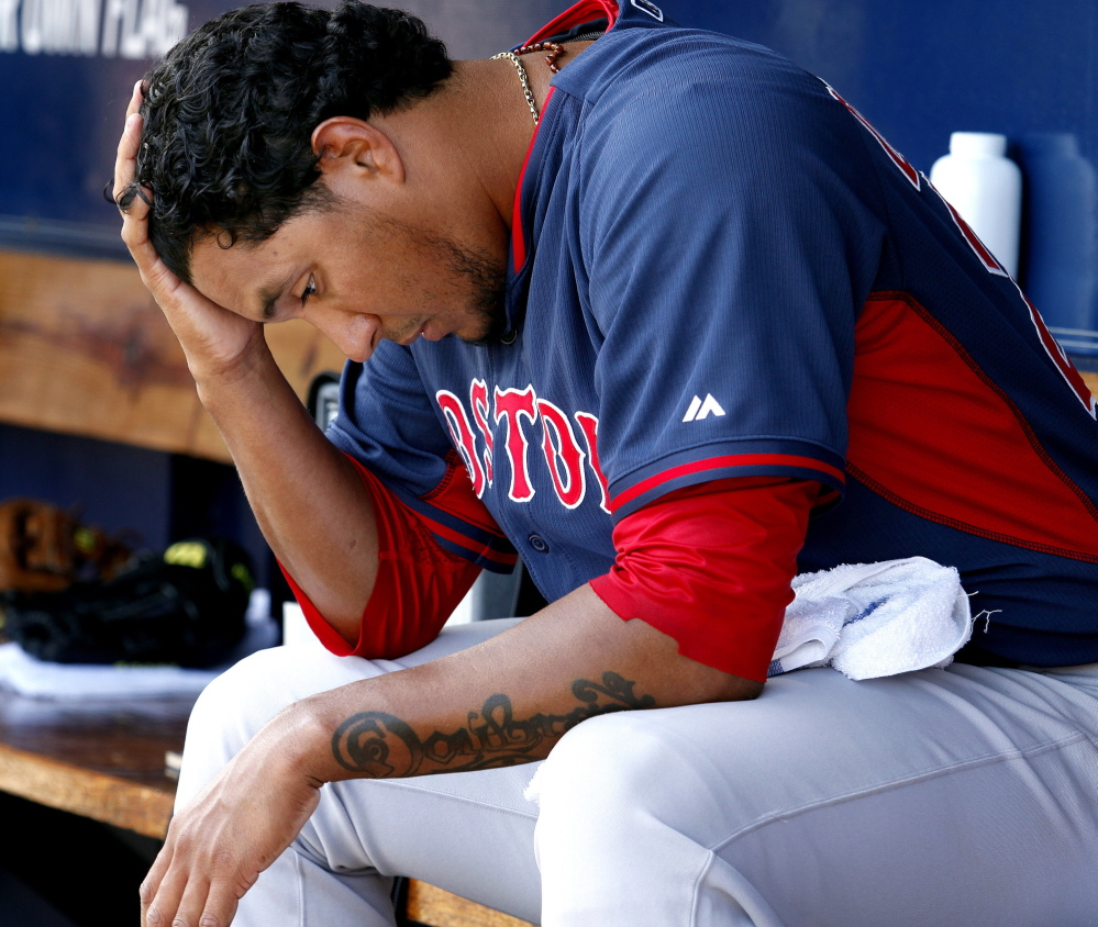 Felix Doubront may be having a spring dead arm, said his catcher, after a poor outing Tuesday.