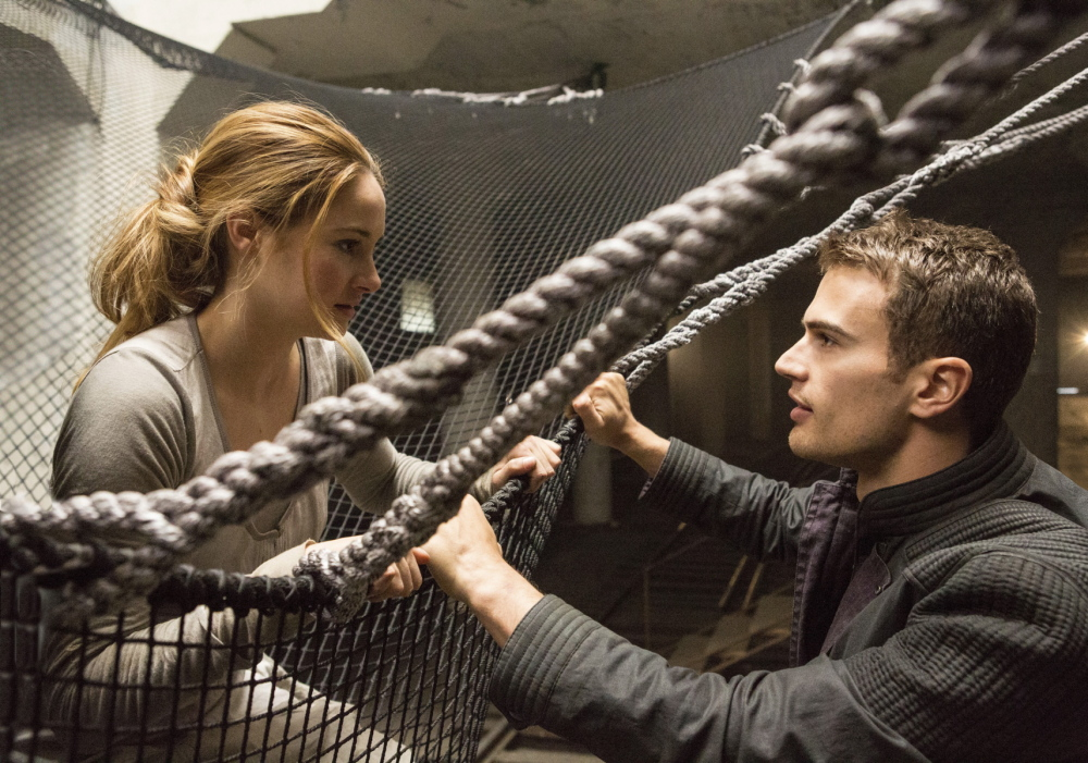 "Shailene Woodley and Theo James in ""Divergent."""