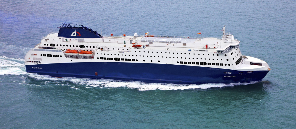 A Maine company called Quest Navigation Inc., says it has a contract to lease a new vessel for a ferry service between Portland and Yarmouth, Nova Scotia. The vessel, built in Singapore, would be called the Nova Star. It has 162 cabins, two restaurants and a maximum capacity for 1,215 passengers. It is 59-feet longer than the Scotia Prince, which operated between Portland and Yarmouth from 1982 to 2004. Photo courtesy Quest Navigation