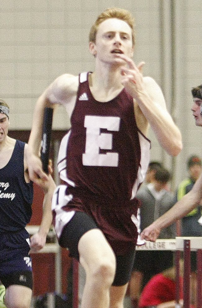 Dan Curts of Ellsworth broke a 39-year-old state record in the 2-mile, clocked in 9 minutes, 7.24 seconds in the New England championships in Boston.