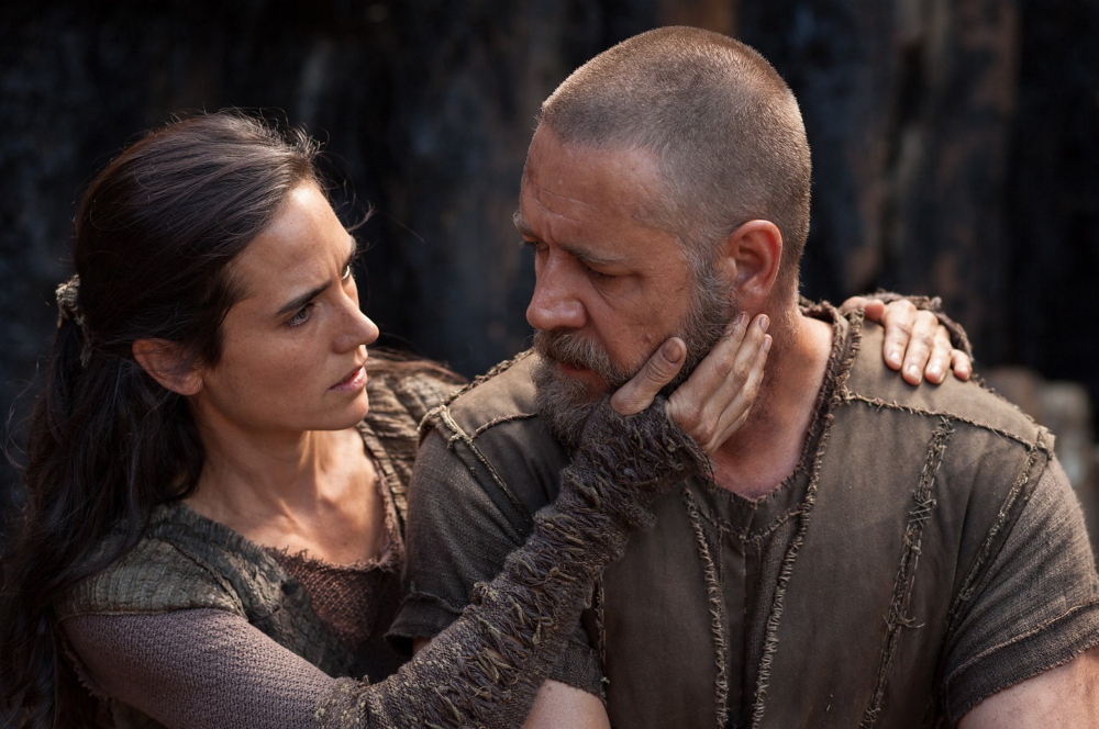 """Russell Crowe as Noah and Jennifer Connelly as his wife Naameh in """"Noah,"""" opening Friday."""
