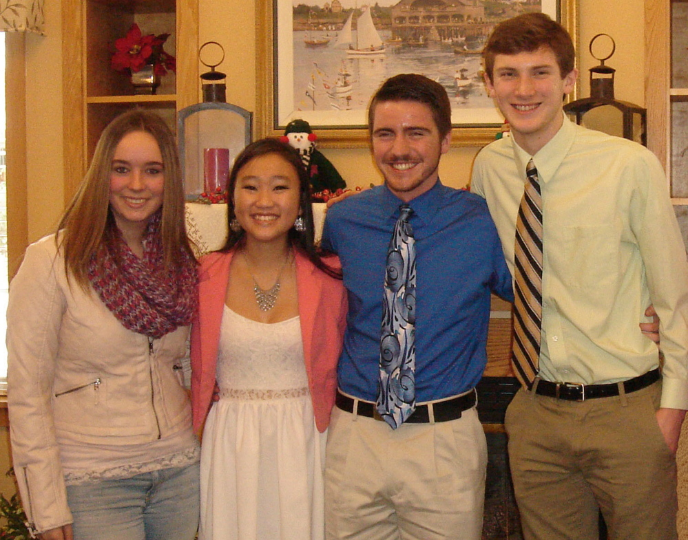 Winners of the recently held Rebecca Emery Chapter of the Daughters of the American Revolution 2014 DAR Good Citizen contest are, from left, Janelle Boisvert, Misa Mai, Devin McGrath-Conwell and Austin Weigle.