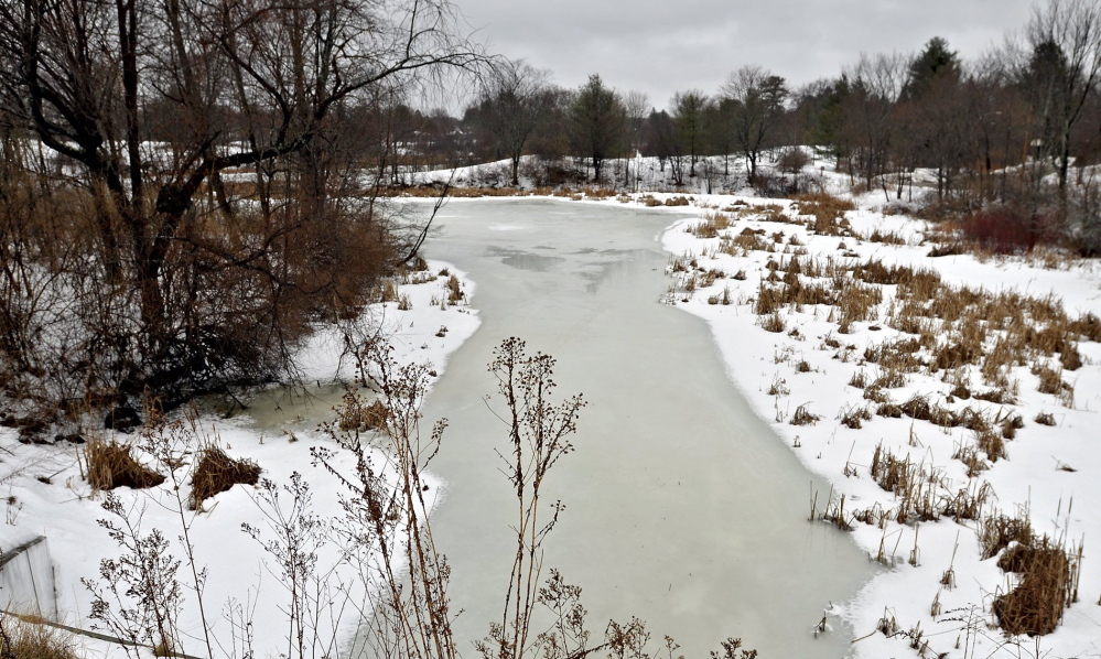 The Capisic Pond enhancement project calls for the removal of 16,000 cubic yards of sediment. Once the project is complete, the pond would have 4.5 acres of open water.