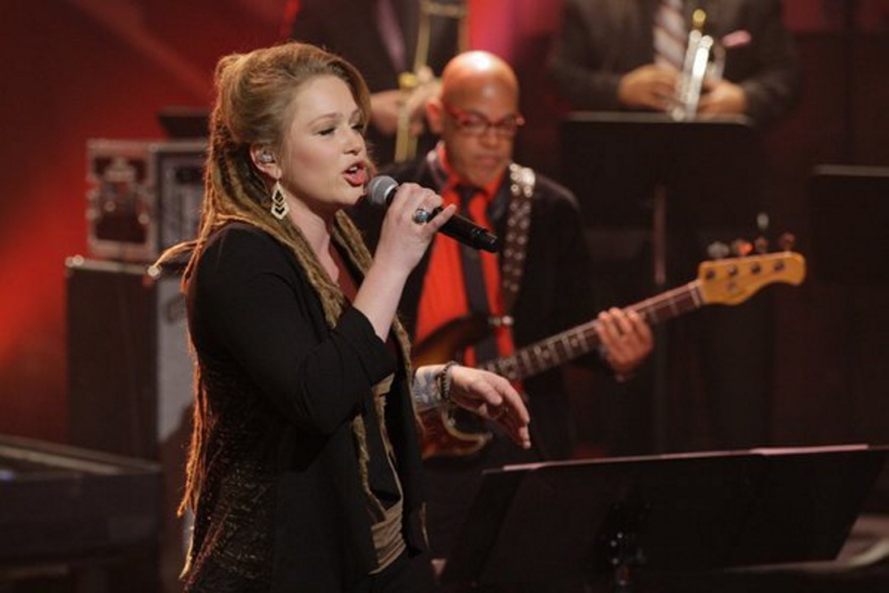 """Crystal Bowersox, shown on """"The Tonight Show"""" last year, will perform at Jonathan's in Ogunquit on Sunday."""