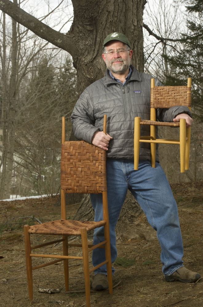 Scott Landis founded GreenWood, which trains Hondurans and Peruvians who live near rain forests to make products like these wooden chairs as an incentive to sustain the forests.