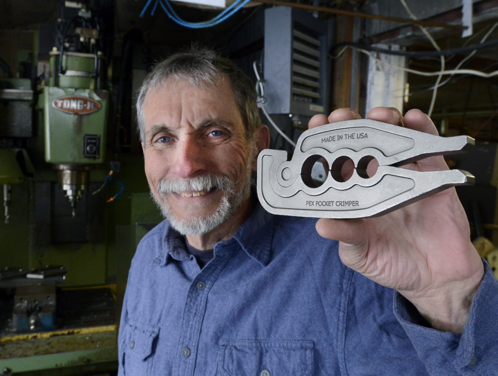 Inventor Dan Kidd's pocket crimper is sold in national hardware stores, but it almost didn't happen. He faced a patent challenge, got free advice from a University of Maine School of Law program and now he's a wealthy man.