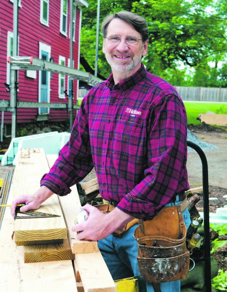 Master carpenter Norm Abram on the job site.