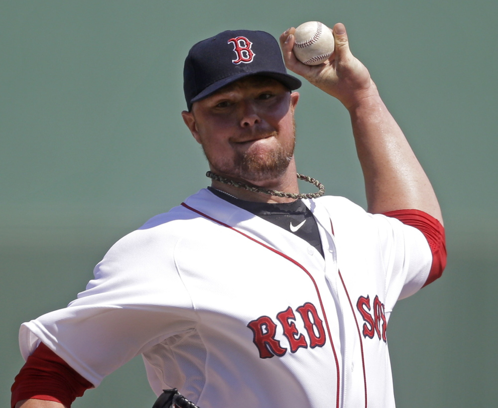 Jon Lester, Boston's opening day starter for the fourth year in a row, goes up against a Baltimore team that led the majors in homers last year.