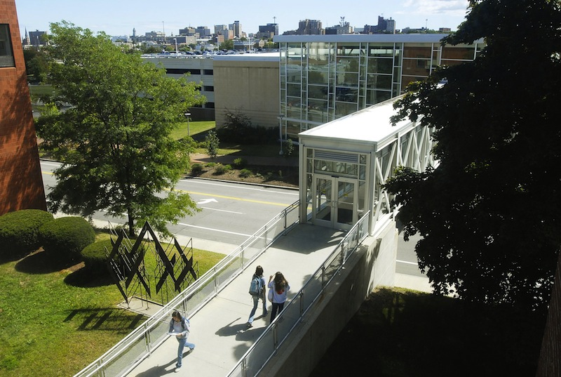 This September 2010 file photo shows the University of Southern Maine's Portland campus. A week after unveiling a 27-point plan as an alternative to deep cuts in faculty, staff and programs at the University of Southern Maine, the Faculty Senate is still soliciting ideas and mulling how best to make $14 million in budget cuts.