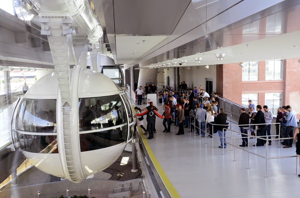 People line up to ride on the Las Vegas High Roller. Tickets are $24.95 during the day and $34.95 at night, with front-of-the-line VIP passes selling for $59.95.