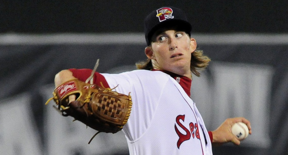 Henry Owens is the ace, one of the top Red Sox pitching prospects, and the opening-night starter for the Sea Dogs.