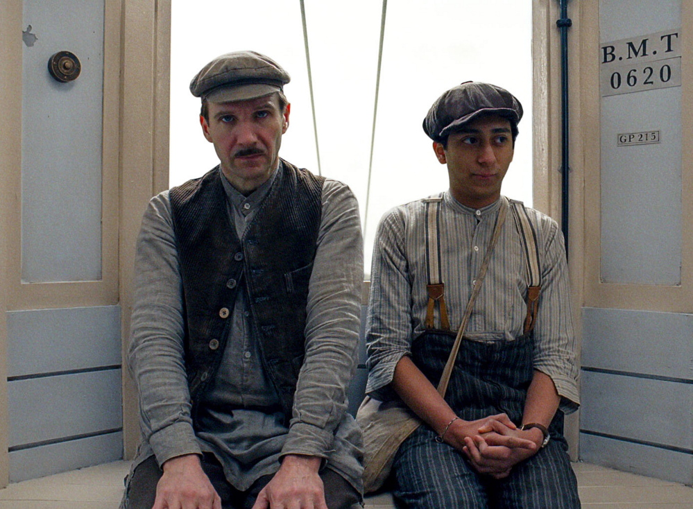 """Ralph Fiennes, left, and Tony Revolori in """"The Grand Budapest Hotel."""""""