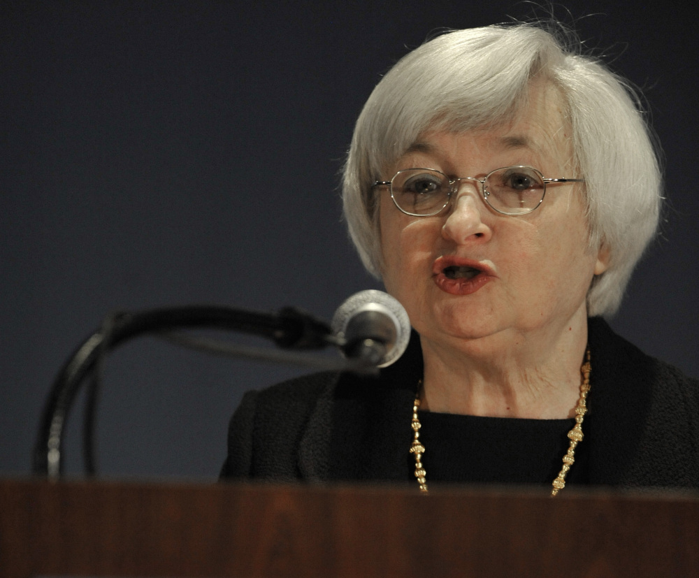 Federal Reserve Chair Janet Yellen speaks Monday in Chicago. Her plainspoken speech was an unorthodox move for a leader of the nation's central bank.