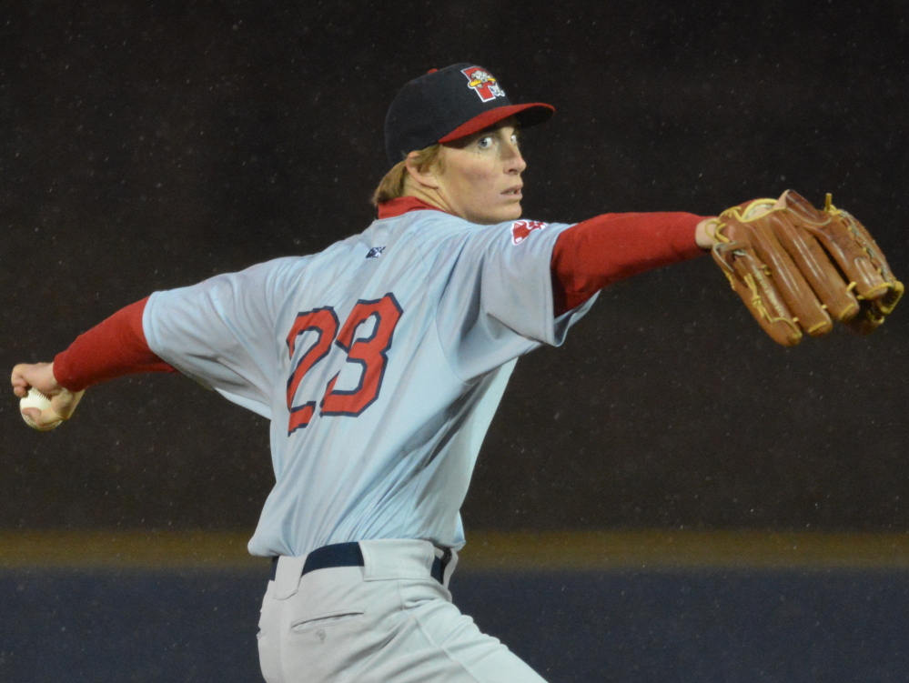 Henry Owens, who was the minor league pitcher of the year last season for the Boston Red Sox, was dominant from the start Thursday night in the Portland Sea Dogs' opener. Owens pitched a six-inning no-hitter, striking out nine in a game ended by rain in the seventh.