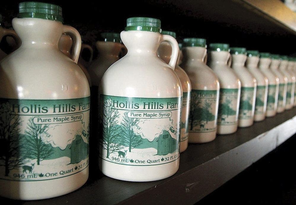 The Hollis Hills maple syrup will be joined by home-grown beef, bacon, chicken and eggs in the farm store.