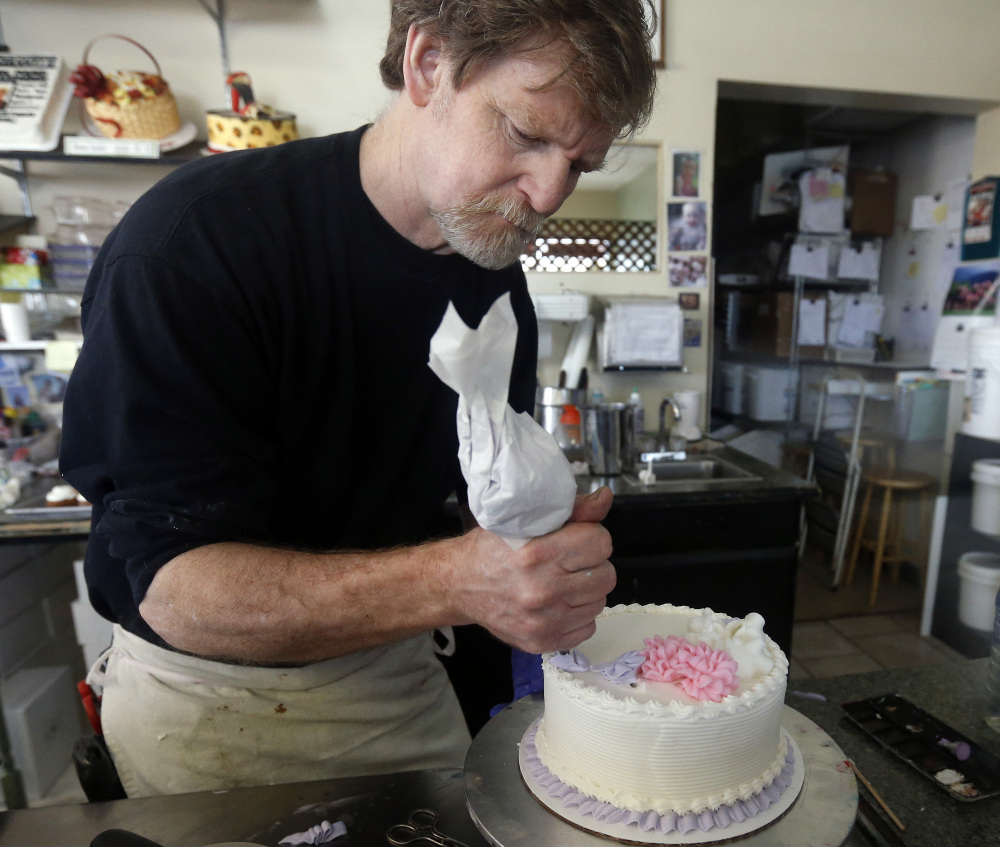 Jack Phillips, a baker in Lakewood, Colo., won't make cakes for gay weddings, Halloween and bachelor parties.