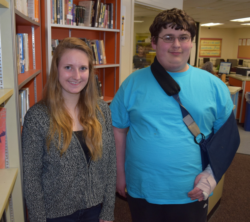 Wells High School seniors Jasmine Loukola and Gabriel Kellett will receive the Western Maine Conference's Citizenship Award for 2014.