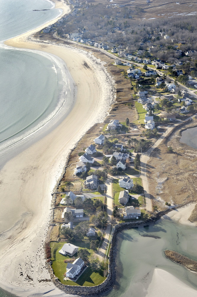 Goose Rocks Beach is 2-miles long and bordered by 110 lots with 95 separate owners. Nine of the lots are owned by the town or by the Kennebunkport Conservation Trust.