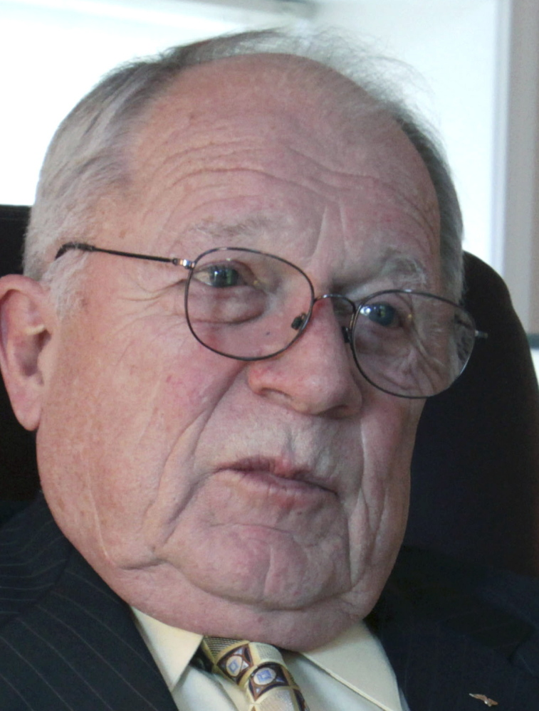 F. Lee Bailey answers questions during a 2011 interview at his office in Yarmouth. Bailey was denied the right to practice law in Maine in a 4-2 decision by Maine's highest court. The ruling Thursday overturned a previous decision by a single justice who found that Bailey was fit to practice law because he was sufficiently rehabilitated after mishandling a client's stocks worth $6 million.