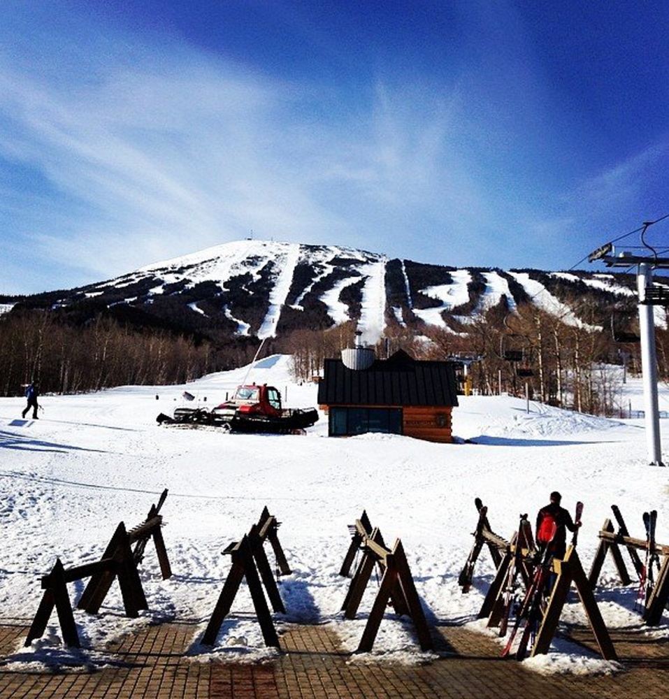 Ample snow remains at Sugarloaf, where the spring skiing is said to be as good or better than it's been in years, and the Carrabassett Valley resort is likely to stay open until early May.