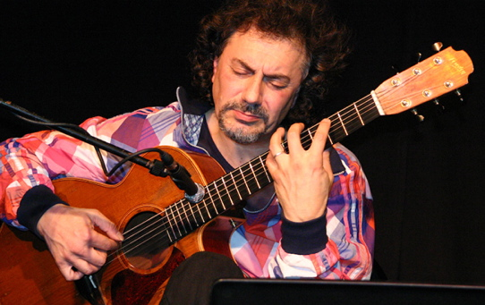 ≈Pierre Bensusan, French-Algerian guitarist, singer and composer, is at One Longfellow Square in Portland on Saturday.