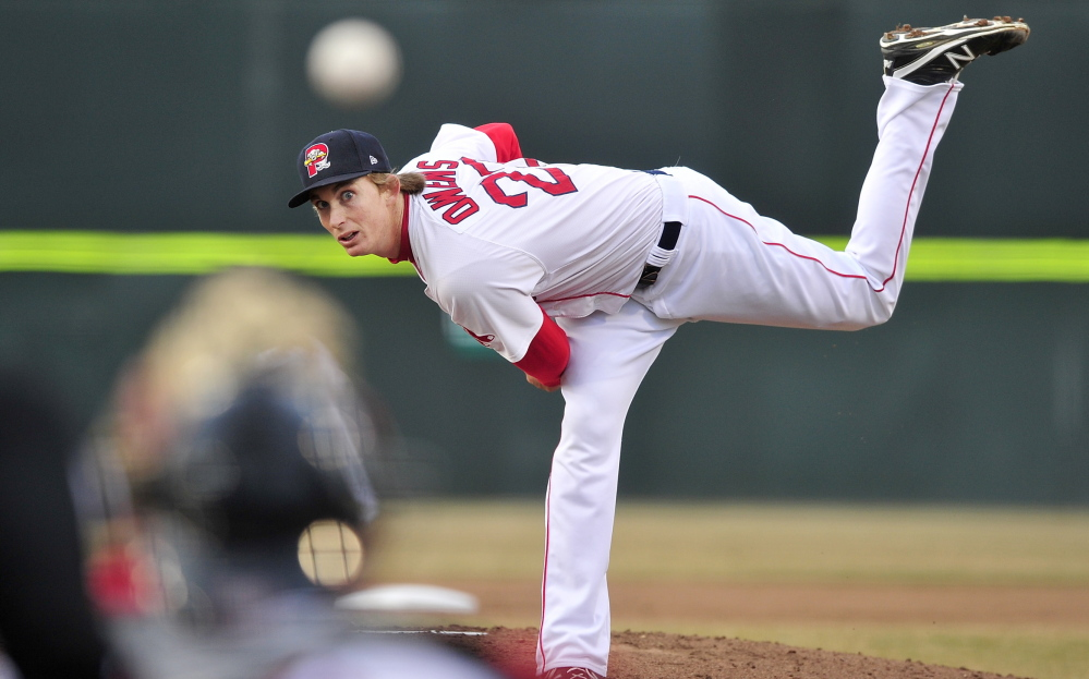Henry Owens no longer has a 0.00 ERA after giving up a pair of two-run homers to Binghamton on Monday. Owens, Boston's top pitching prospect, was bailed out by a rally and strong relief pitching.