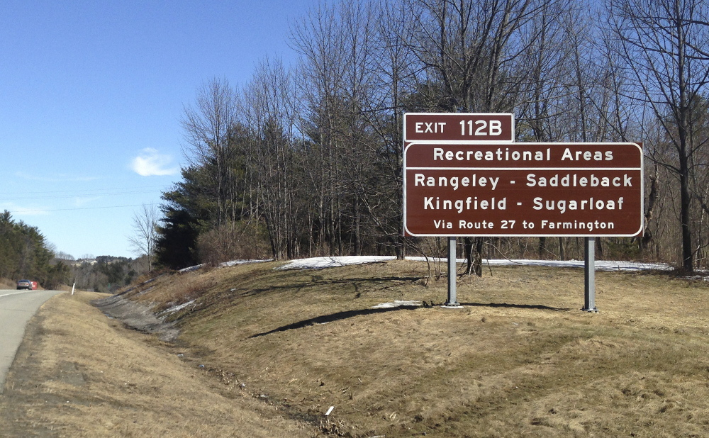 Some highway signs that direct visitors to attractions don't conform to federal highway rules.