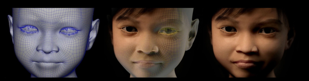 These are pictures of Sweetie, an avatar, being generated by a computer. Putting Sweetie online is one way investigators are trying to trap pedophiles.