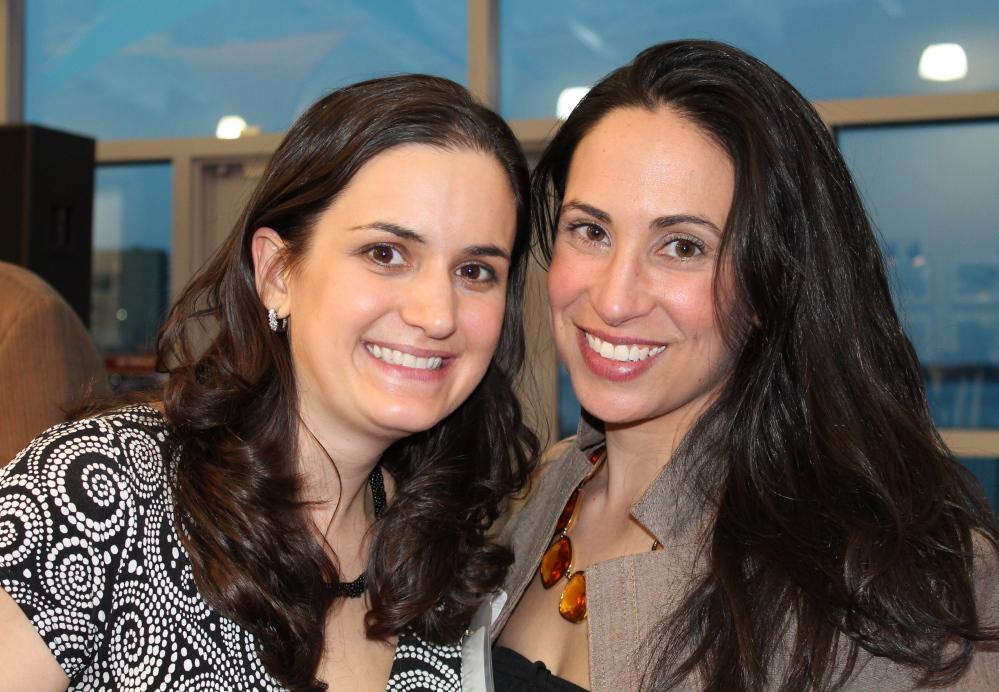 Amie Marzen, left, an Easter Seals Maine board member, with Jennifer Kanwit of ghSMART