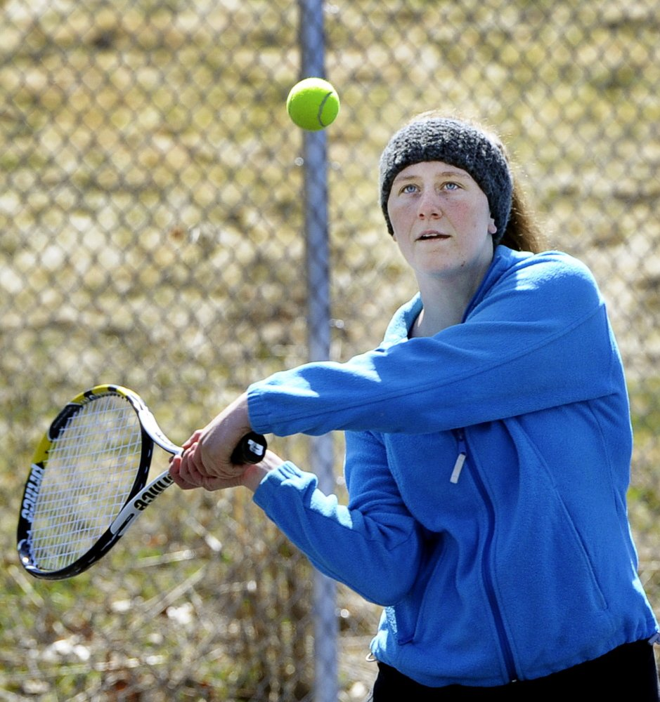 Danielle Proctor, who will play second singles for South Portland this season, already loves the school's new tennis courts, and the fact that she doesn't have to travel to play on them.