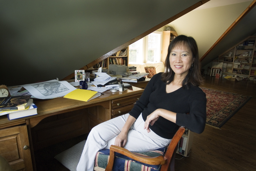 """Tess Gerritsen's book """"Gravity,"""" published in 1999, features a research physician on her first mission to the International Space Station. She says she can't talk about her lawsuit, even though she's """"dying"""" to do so."""
