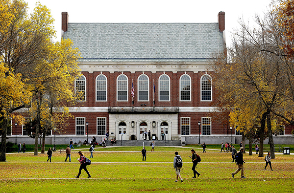 Gabe Souza/Staff Photographer In this file photo students and faculty move through the mall at the University of Maine on a fall afternoon. Gabe Souza/Staff Photographer
