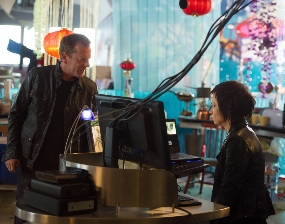 "Kiefer Sutherland as Jack Bauer and Mary Lynn Rajskub as Chloe in the new season of ""24"""