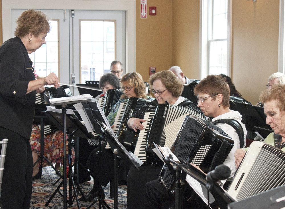 The Connecticut Accordion Association performs during its 10th anniversary celebration at Vasi's Restaurant in Waterbury, Conn.