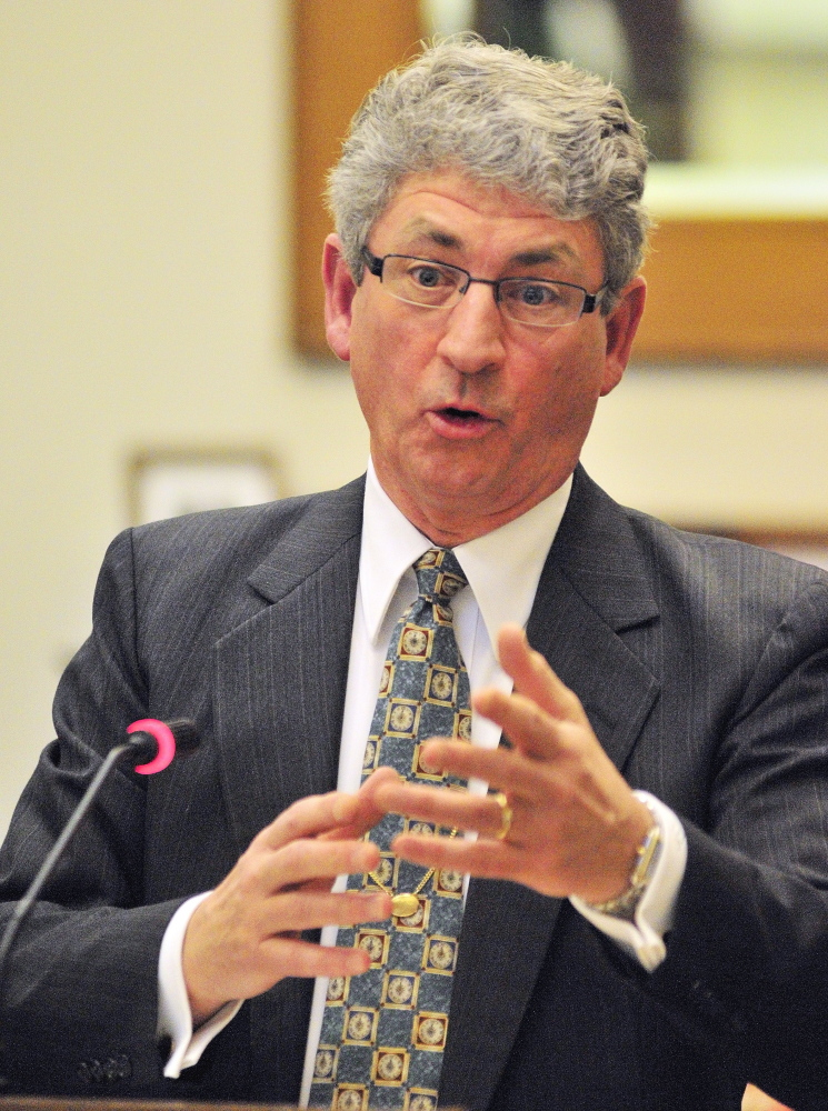 Deputy Attorney General and Superior Court nominee William Stokes, testifies during a Judiciary Committee public hearing in February.