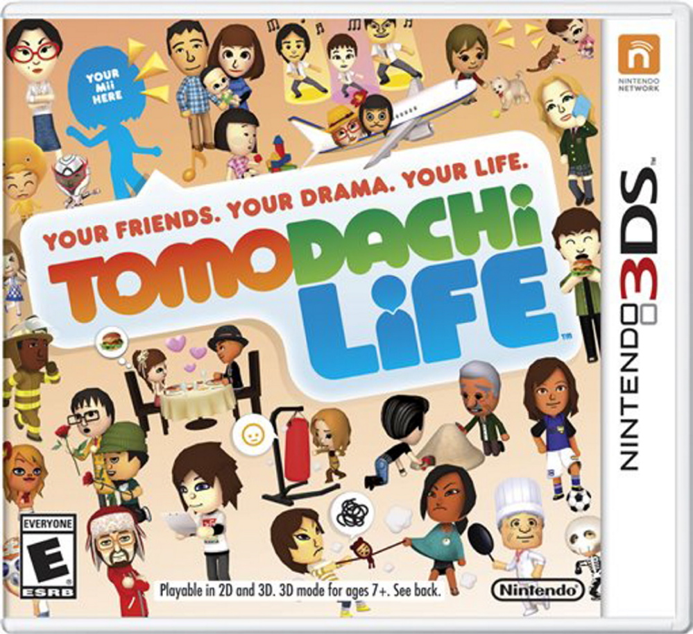 """This photo provided by Nintendo shows the cover of the video game, """"Tomodachi Life."""" The gaming company said it wouldn't bow to pressure to allow players to engage in romantic entanglements with characters of the same sex in the English version of the game following a social media campaign launched last month seeking virtual equality for the game's characters, which are modeled after real people."""