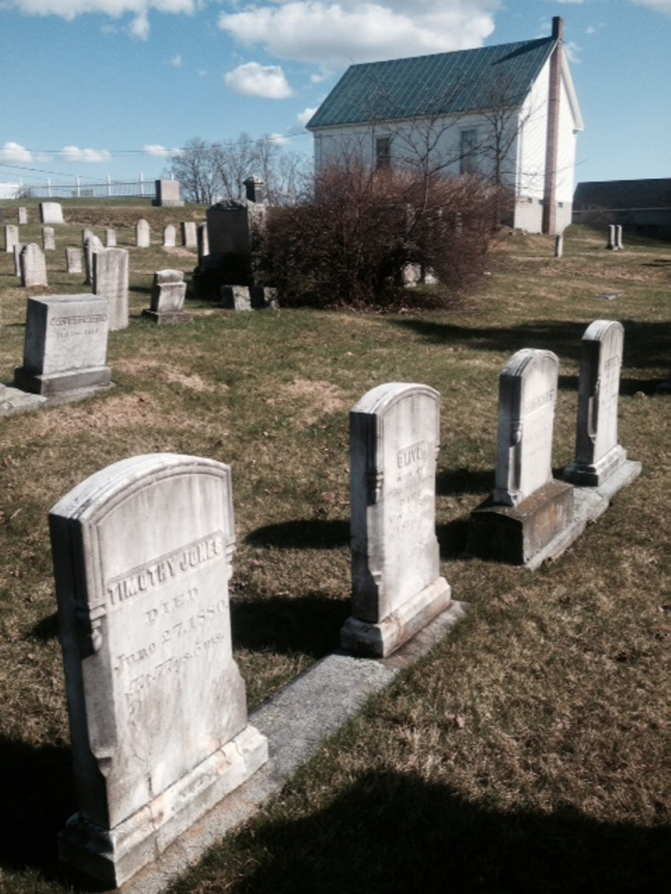This cemetery in North Fairfield is where the grave site of Avery Lane has been vandalized.