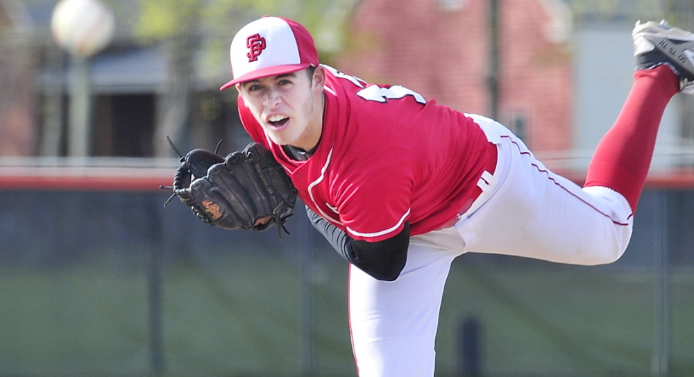 Henry Curran of South Portland pitched a five-inning no-hitter Thursday against Biddeford. Not just that, but 13 of Biddeford's 15 outs were strikeouts, and Curran walked just one. Now, that's domination. The Red Riots improved to 6-0 with the 10-0 victory and dropped the Tigers to 4-2.