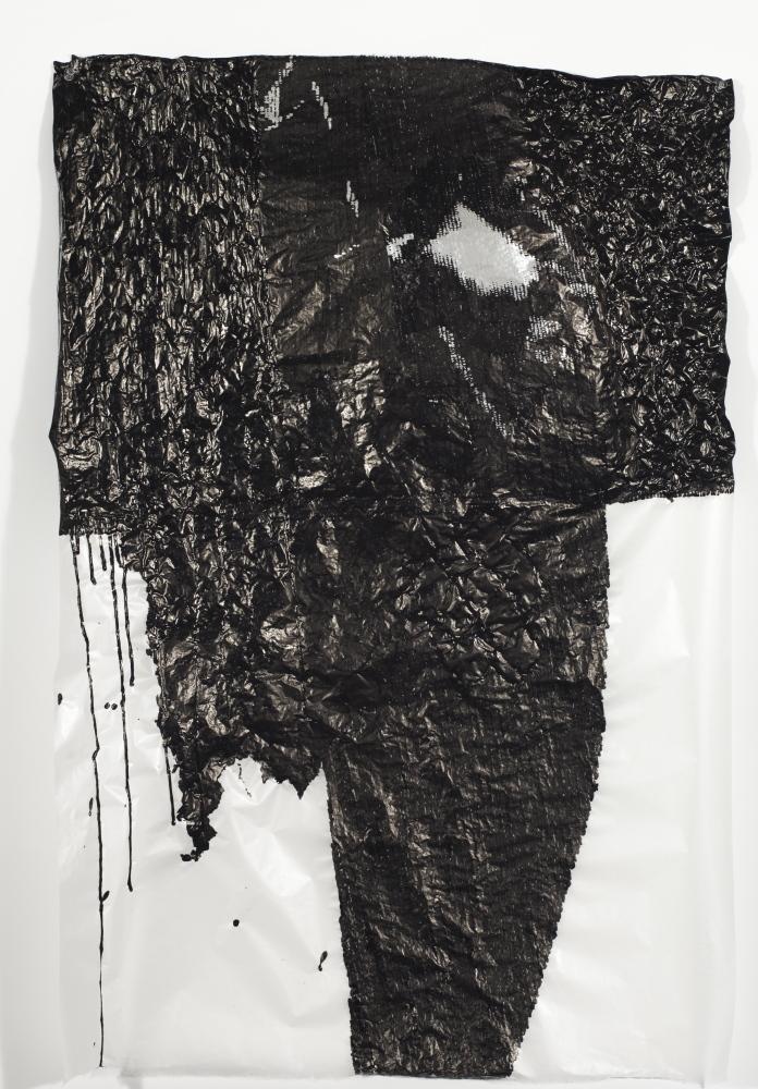 """Night Flight,"" 2014, sumi ink and acrylic on gampi paper."