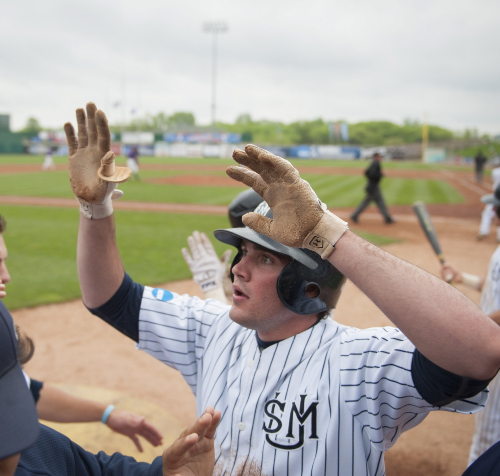 Chris Bernard, a transfer from UMaine, helped Southern Maine reach the Division III championship game last season and has been a leader on a Huskies team that is going back to the national tournament this year.