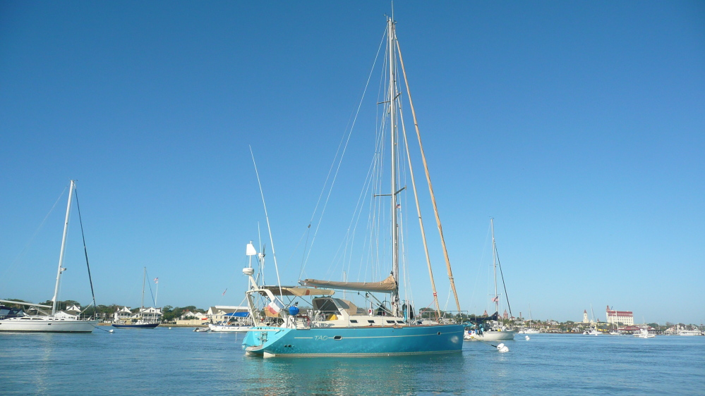 Three men were rescued from this vessel, the Tao, after it took on water off the coast of New England