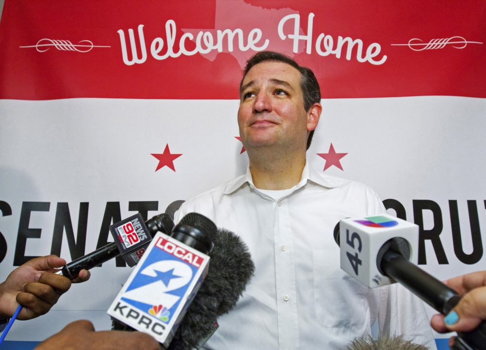 "U.S. Sen. Ted Cruz, R-Texas, addressed a gathering of leading conservatives Thursday in McLean, Va. He told members of the crowd that they are still the Republican Party's most influential bloc. ""Some say, 'Yay, our team is winning,'"" he said. ""But we win when we stand for principle and we lose when we give in to Washington's status quo."""