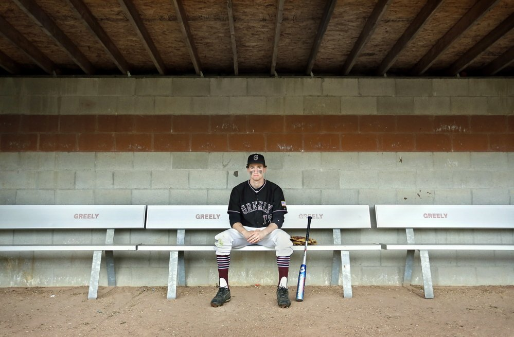 """Greely High School baseball player Sam Porter has overcome concussions from soccer and an injury he suffered in Guatemala to become a viable member of the baseball team. Coach Derek Soule calls Porter """"the best defensive third baseman I've coached."""""""